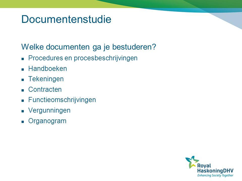Documentenstudie Welke documenten ga je bestuderen