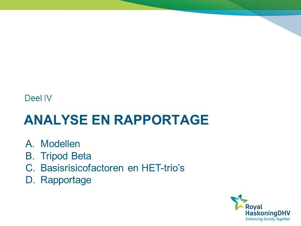 Analyse en rapportage Modellen Tripod Beta