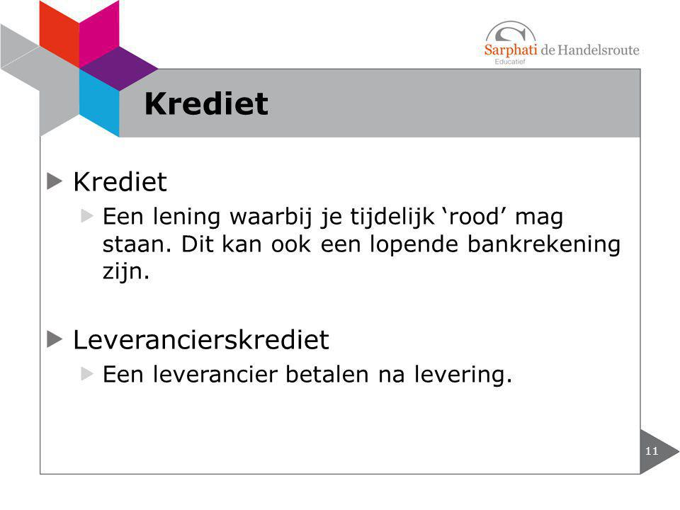 Krediet Krediet Leverancierskrediet