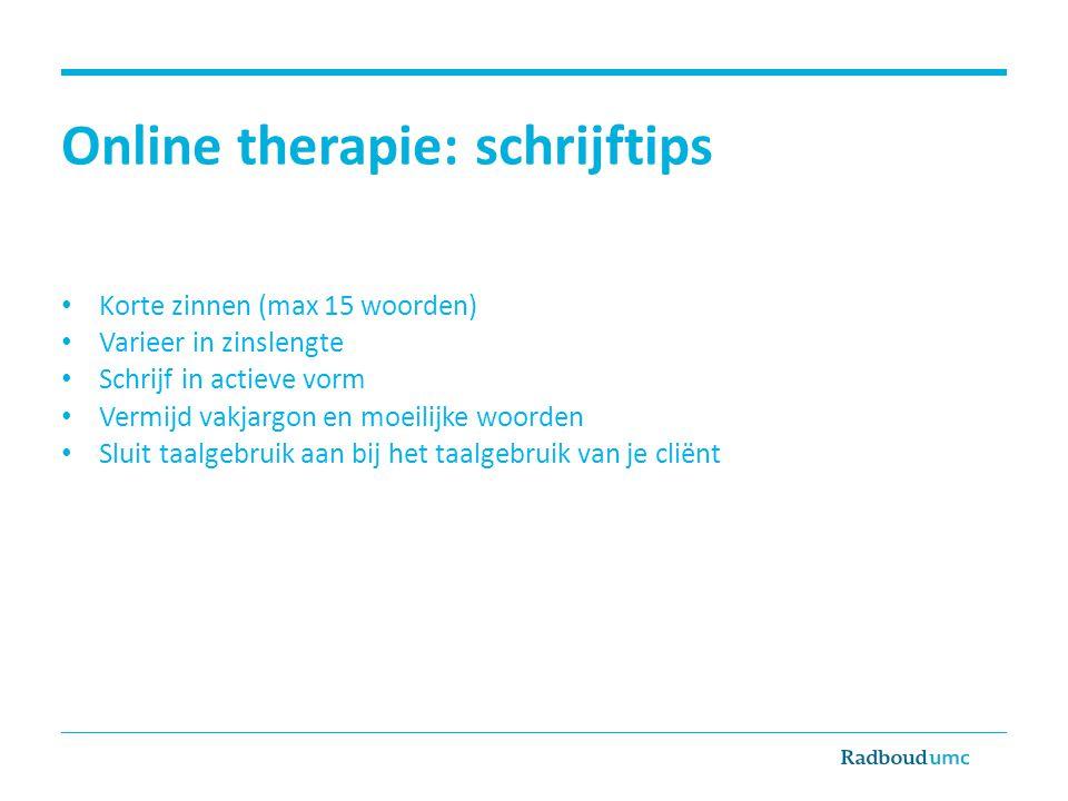 Online therapie: schrijftips