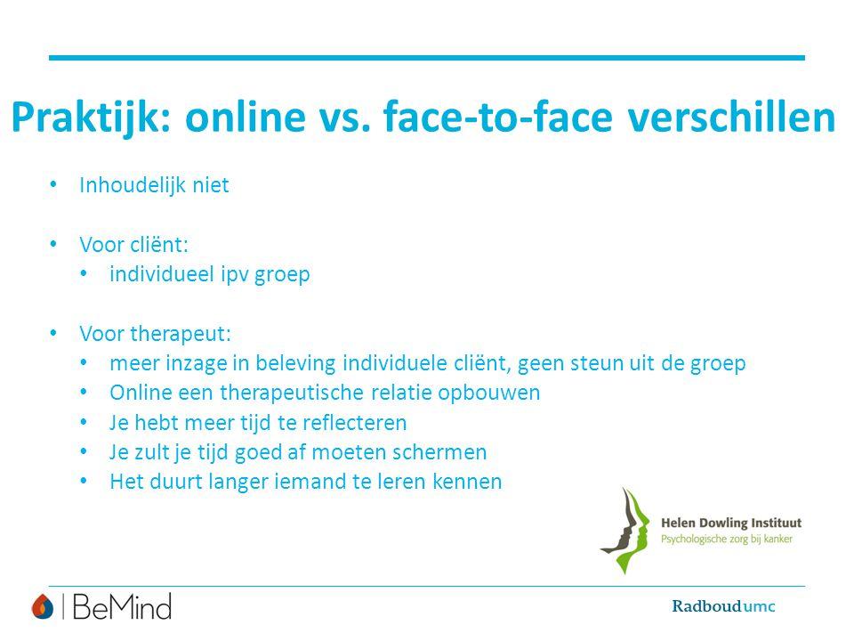 Praktijk: online vs. face-to-face verschillen