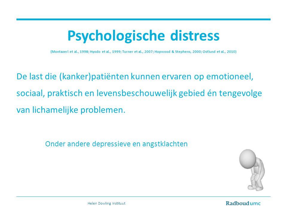 Psychologische distress (Montazeri et al. , 1998; Hyodo et al