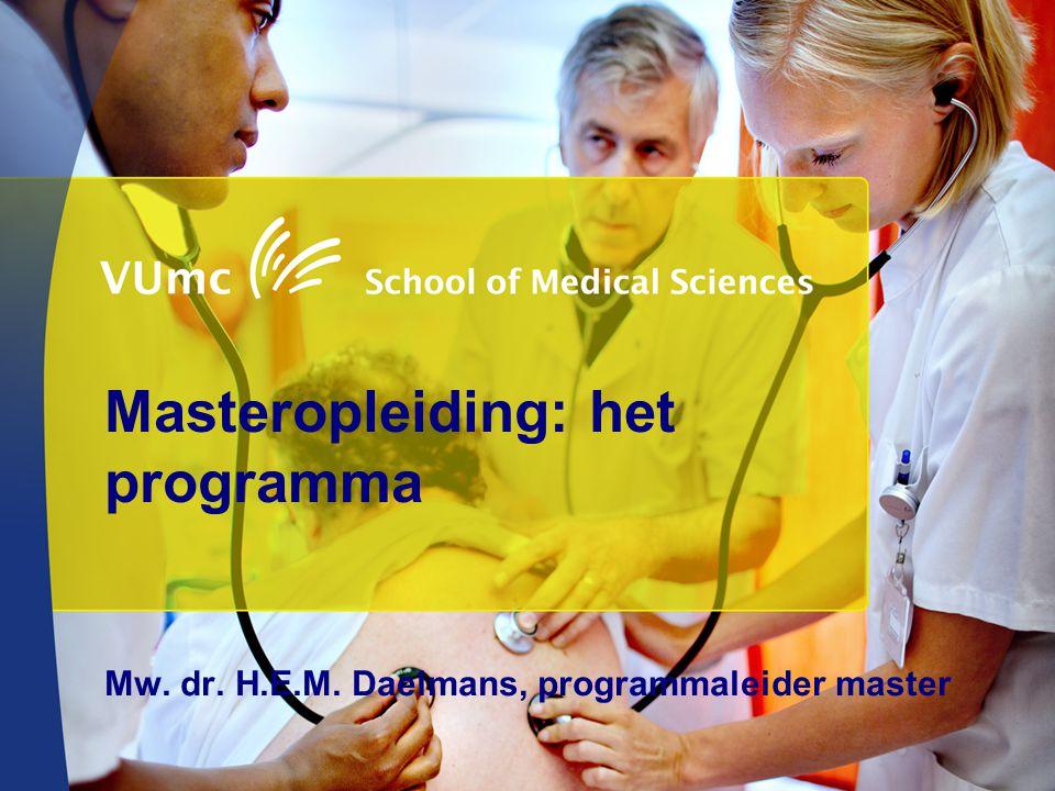 Masteropleiding: het programma