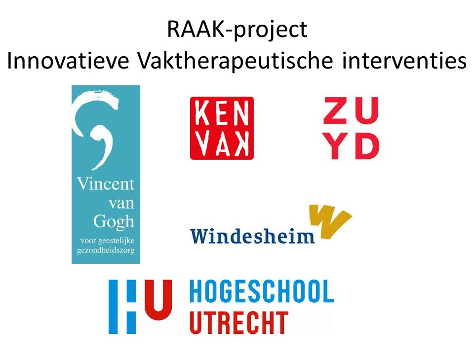 RAAK-project Innovatieve Vaktherapeutische interventies