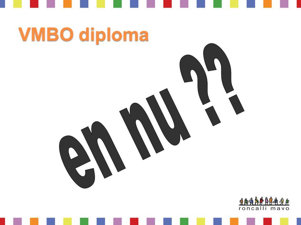 VMBO diploma en nu