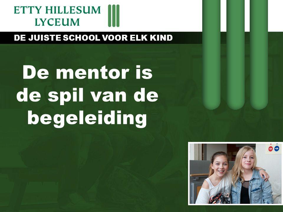 De mentor is de spil van de begeleiding