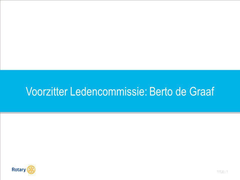 Voorzitter Ledencommissie: Berto de Graaf