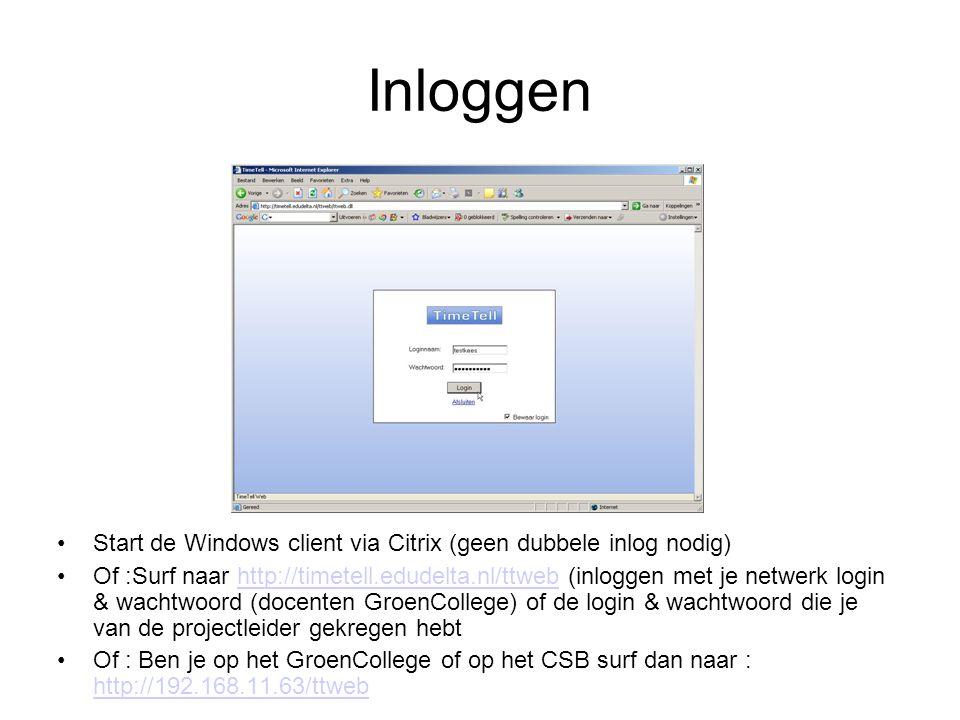 Inloggen Start de Windows client via Citrix (geen dubbele inlog nodig)