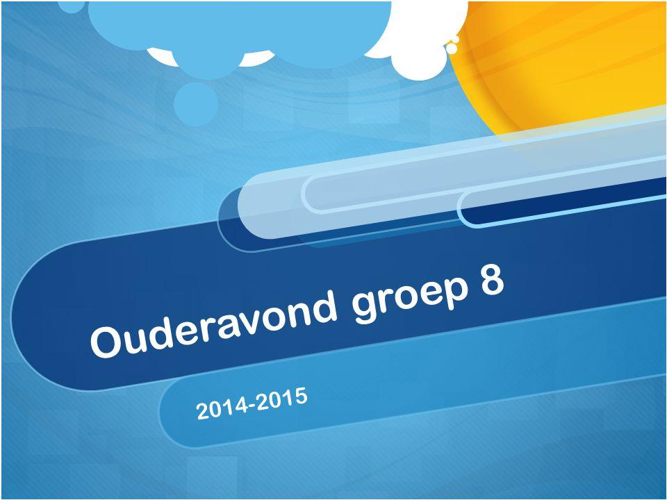 Ouderavond groep 8 2014-2015