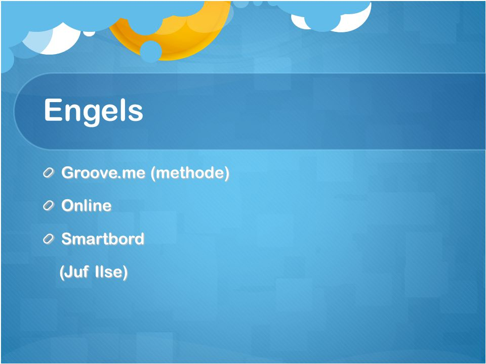 Engels Groove.me (methode) Online Smartbord (Juf Ilse)