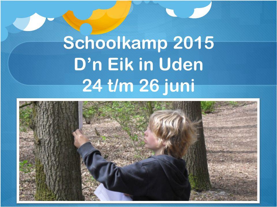 Schoolkamp 2015 D'n Eik in Uden 24 t/m 26 juni