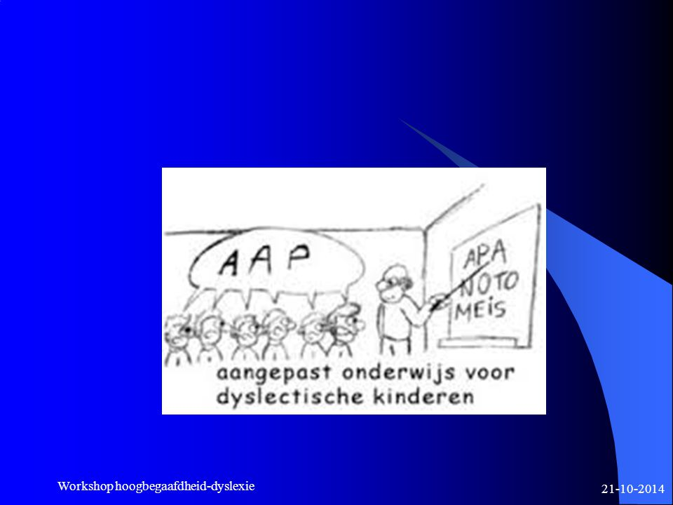 Workshop hoogbegaafdheid-dyslexie