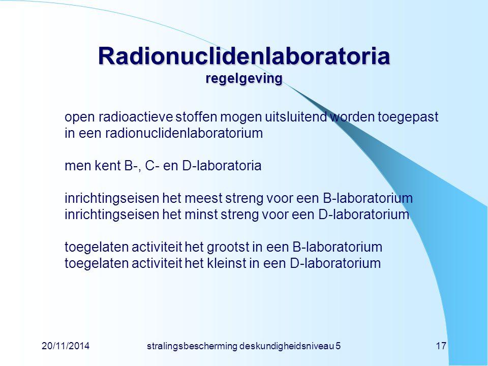 Radionuclidenlaboratoria regelgeving