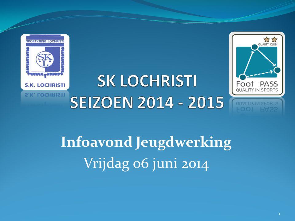 Infoavond Jeugdwerking Vrijdag 06 juni 2014