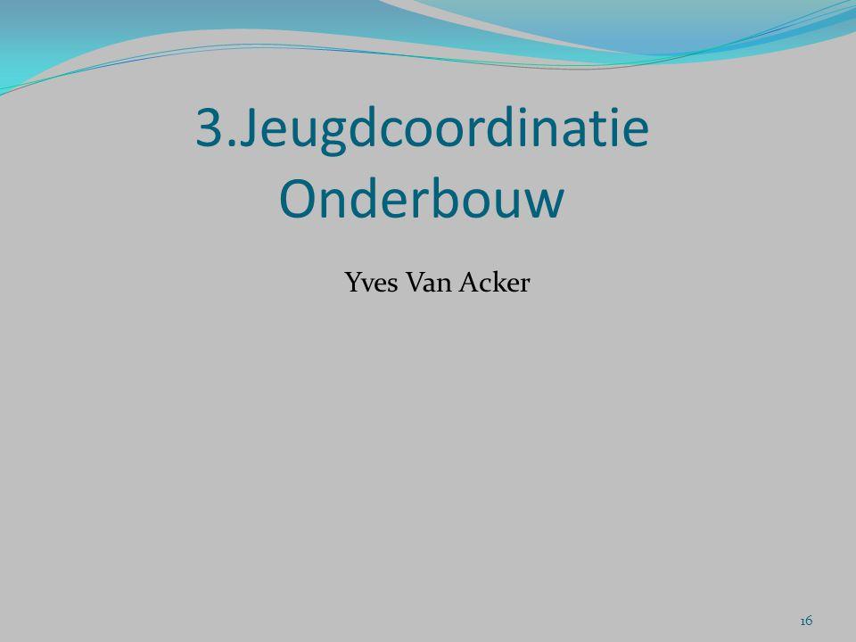 3.Jeugdcoordinatie Onderbouw