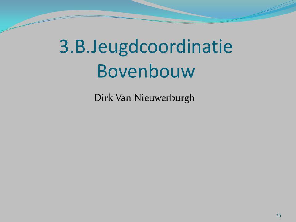 3.B.Jeugdcoordinatie Bovenbouw