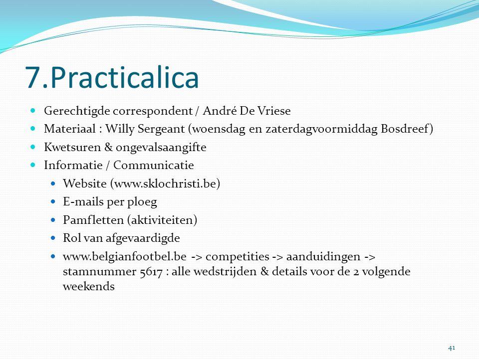 7.Practicalica Gerechtigde correspondent / André De Vriese