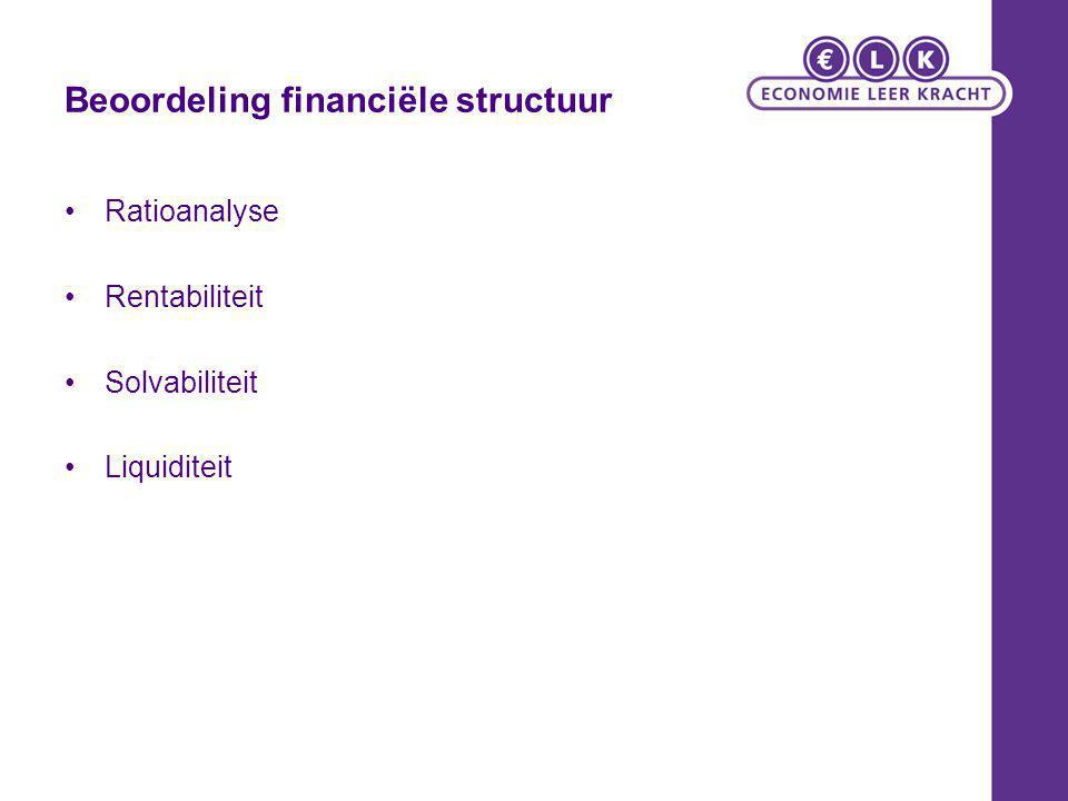 Beoordeling financiële structuur