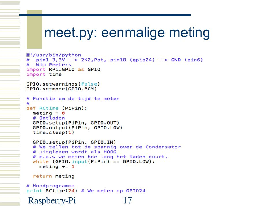 meet.py: eenmalige meting