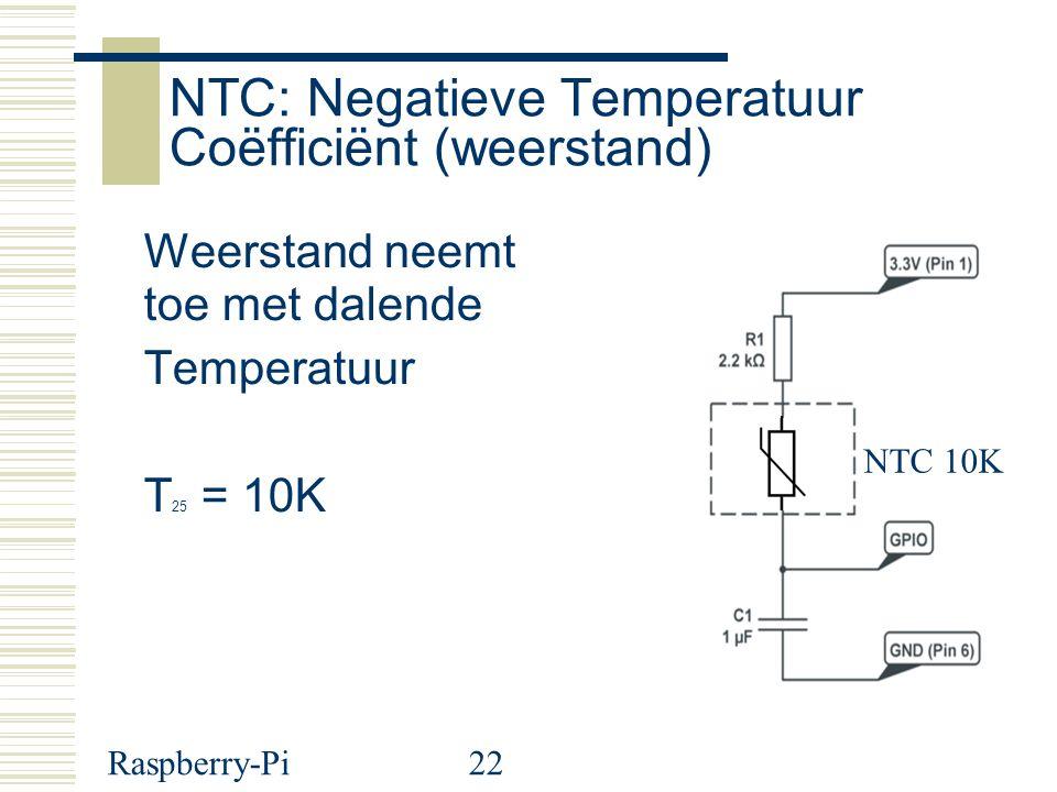 NTC: Negatieve Temperatuur Coëfficiënt (weerstand)