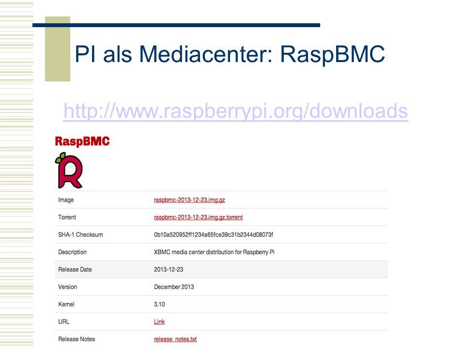 PI als Mediacenter: RaspBMC