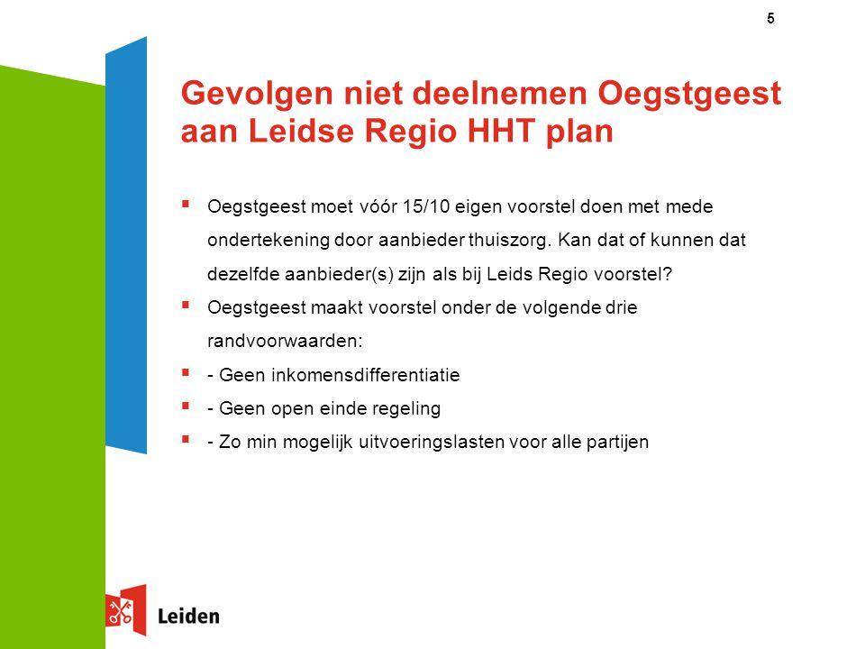 Gevolgen niet deelnemen Oegstgeest aan Leidse Regio HHT plan
