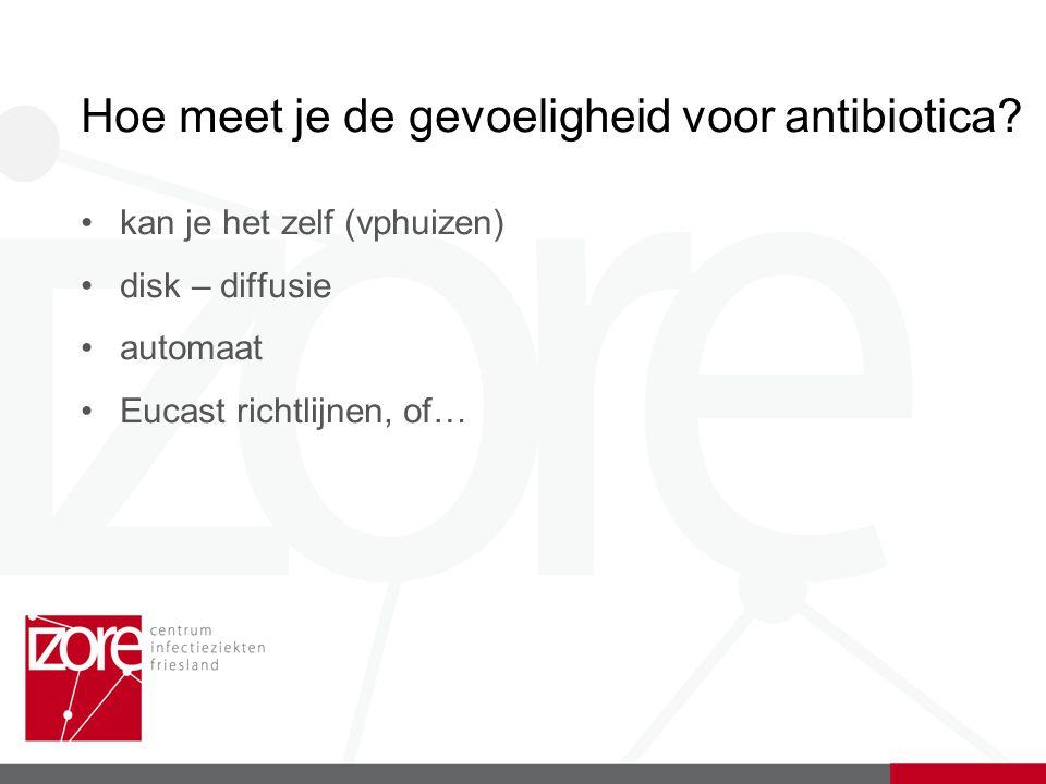 Hoe meet je de gevoeligheid voor antibiotica