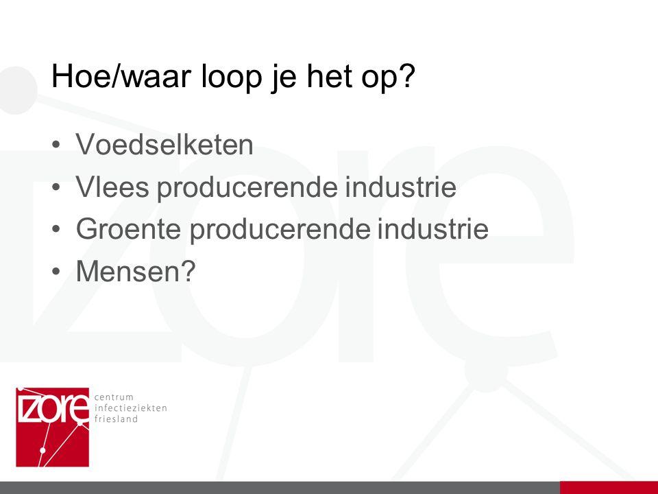 Hoe/waar loop je het op Voedselketen Vlees producerende industrie