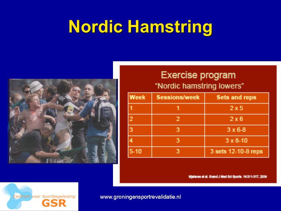 Nordic Hamstring www.groningensportrevalidatie.nl
