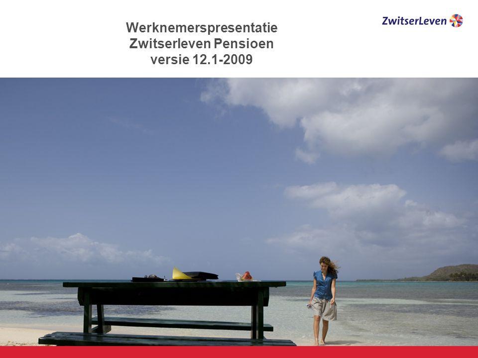 Werknemerspresentatie Zwitserleven Pensioen versie 12.1-2009