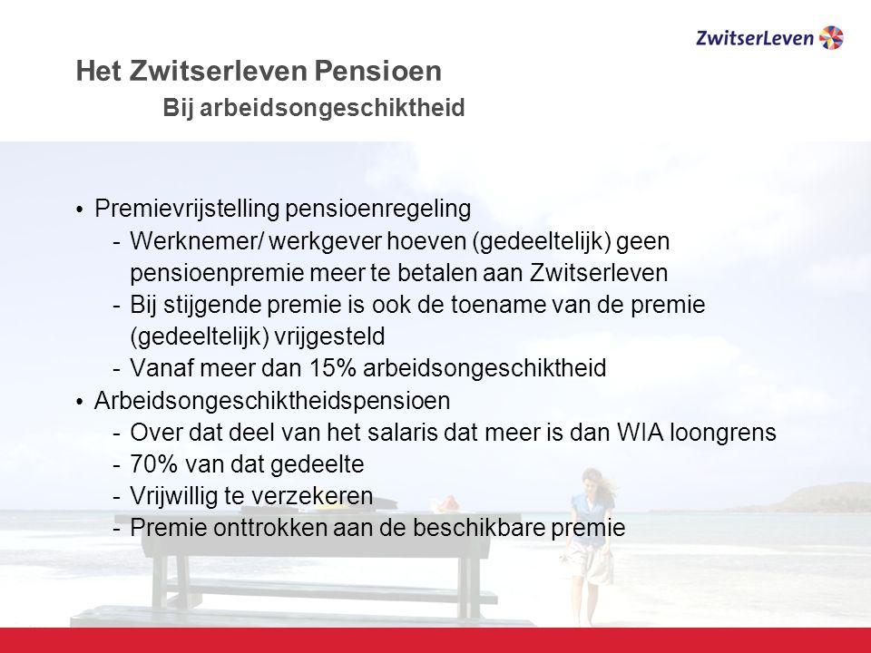 Het Zwitserleven Pensioen Bij arbeidsongeschiktheid