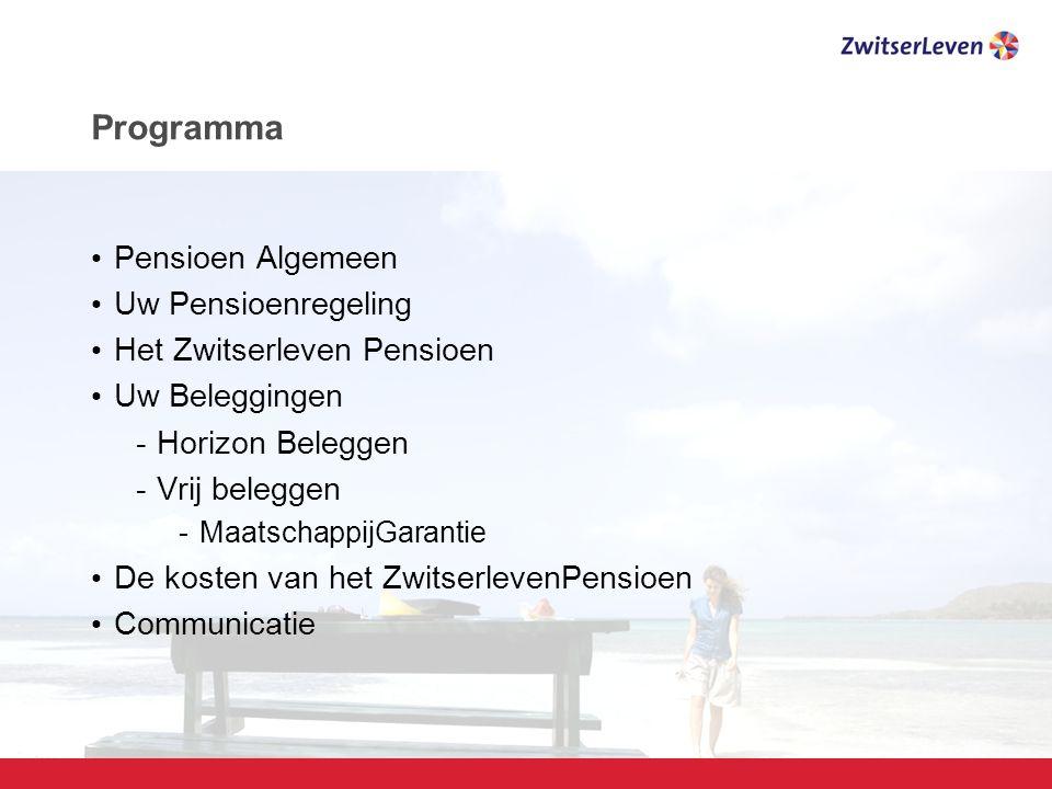 Programma Pensioen Algemeen Uw Pensioenregeling