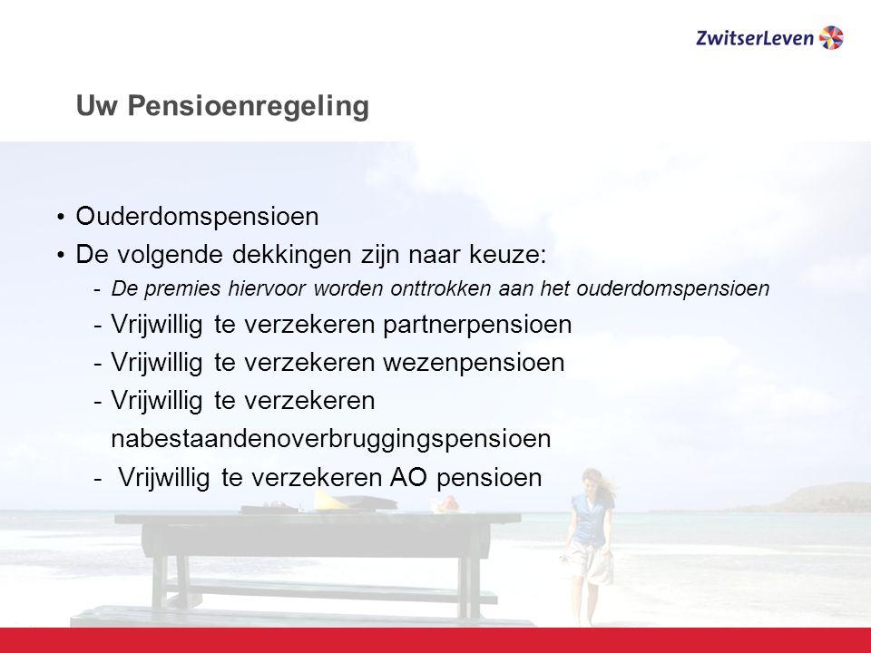 Uw Pensioenregeling Ouderdomspensioen