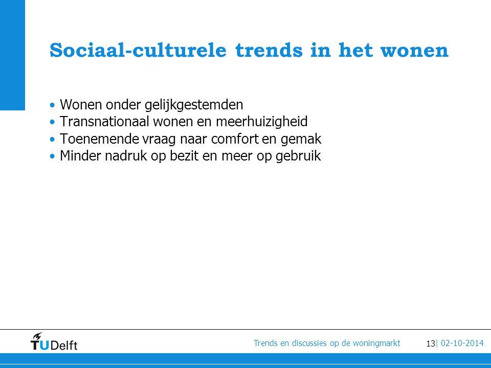 Sociaal-culturele trends in het wonen