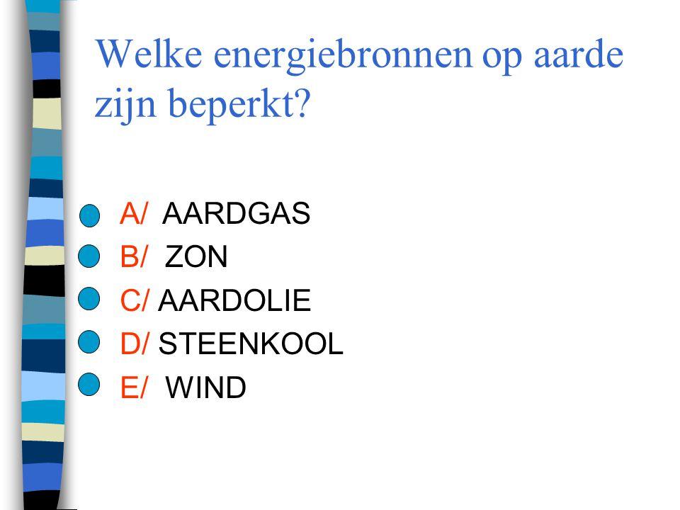 Welke energiebronnen op aarde zijn beperkt