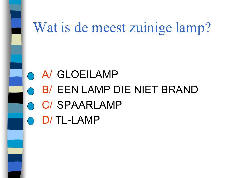 Wat is de meest zuinige lamp