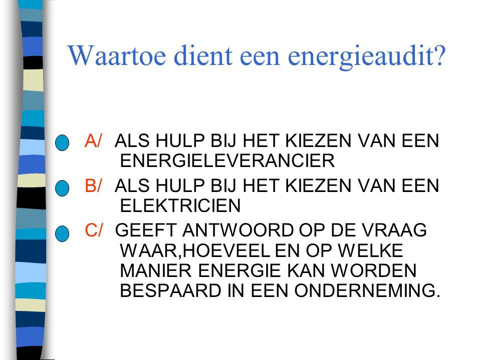 Waartoe dient een energieaudit