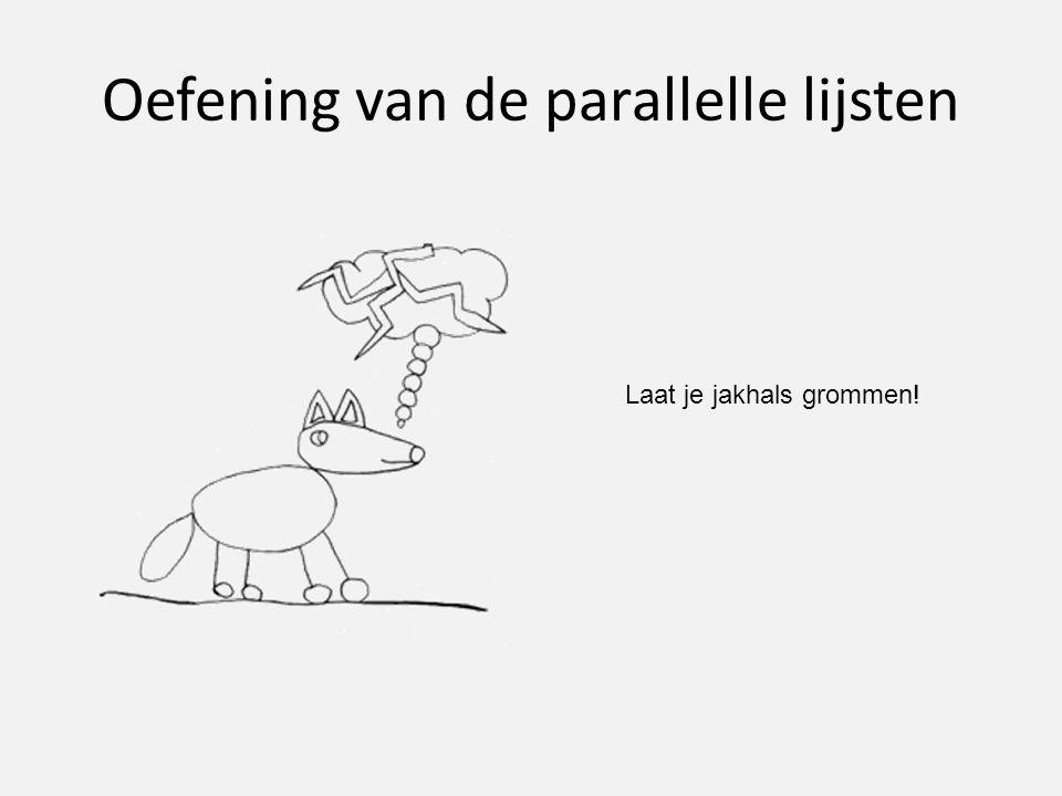 Oefening van de parallelle lijsten
