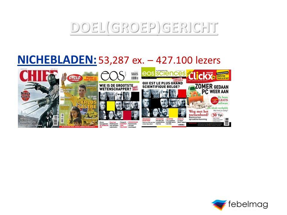 DOEL(GROEP)GERICHT NICHEBLADEN: 53,287 ex. – 427.100 lezers