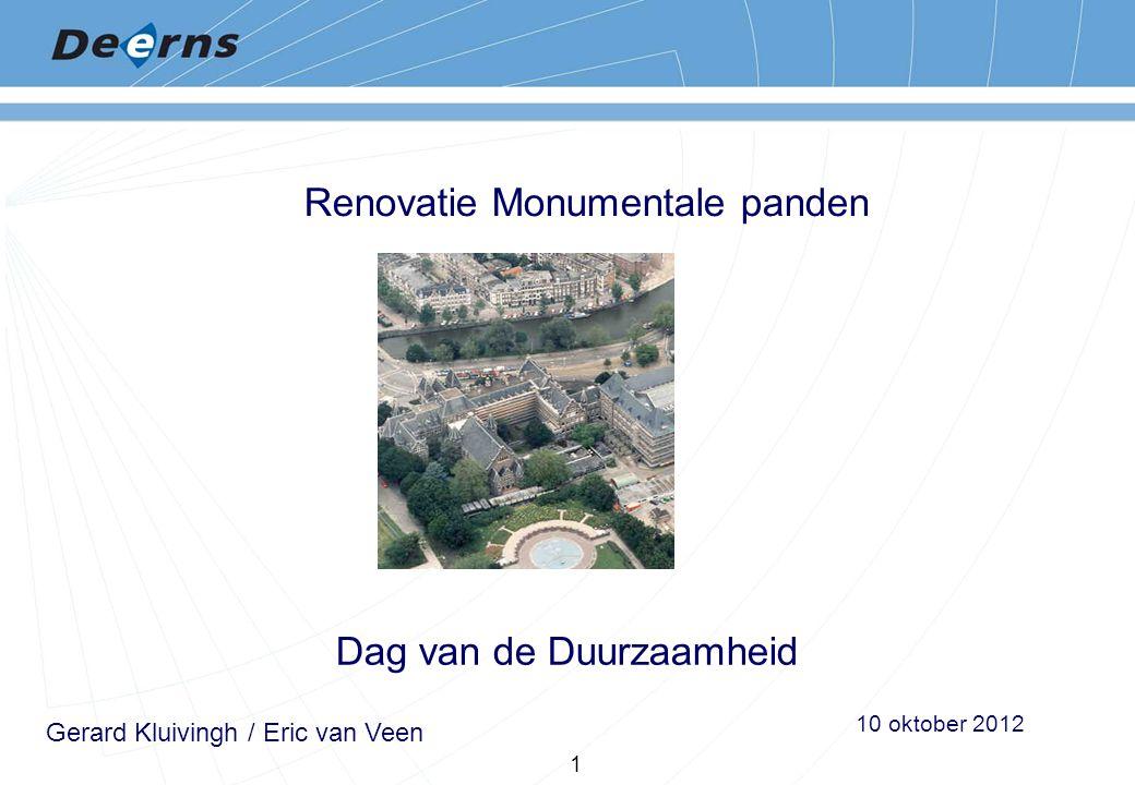 Renovatie Monumentale panden