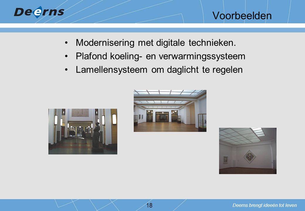 Voorbeelden Modernisering met digitale technieken.