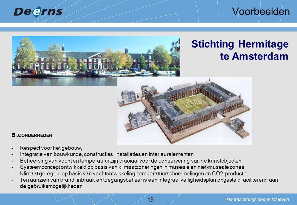 Voorbeelden Stichting Hermitage te Amsterdam Bijzonderheden
