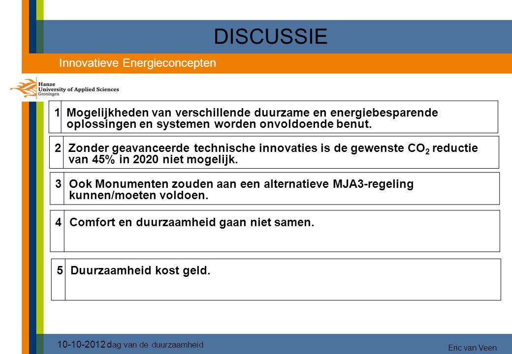 DISCUSSIE 3737 Innovatieve Energieconcepten 1