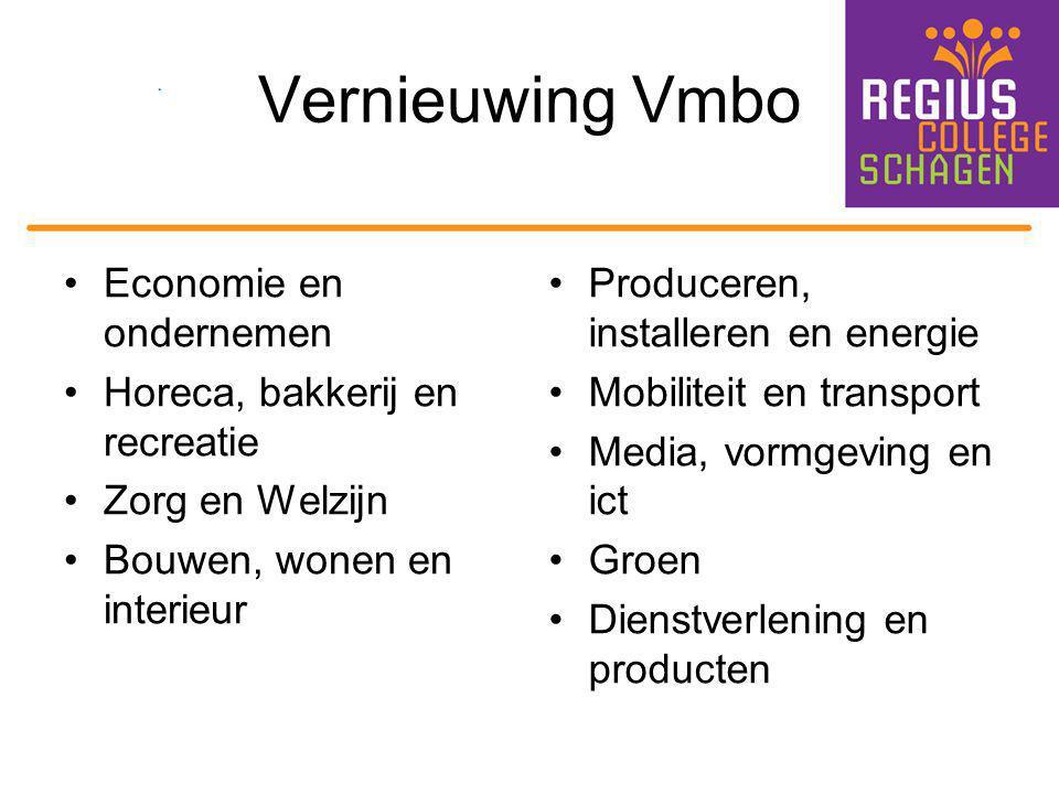Vernieuwing Vmbo Economie en ondernemen Horeca, bakkerij en recreatie