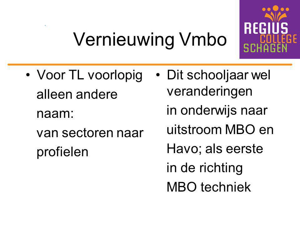 Vernieuwing Vmbo Voor TL voorlopig alleen andere naam: