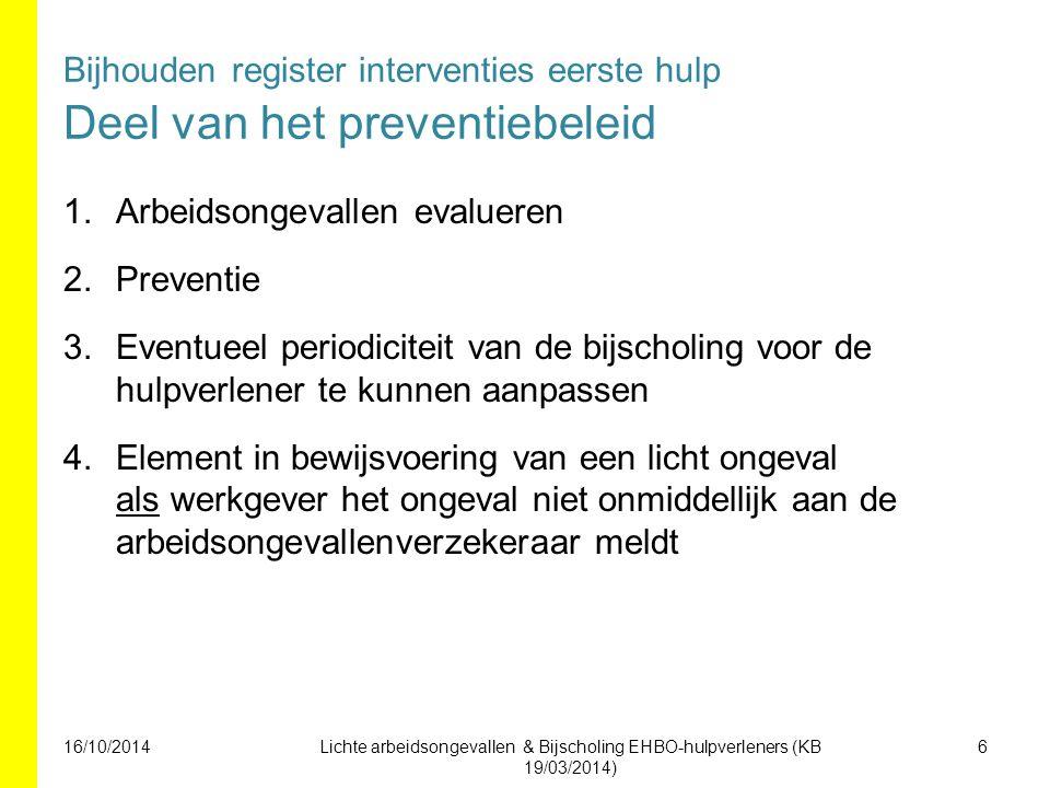Arbeidsongevallen evalueren Preventie
