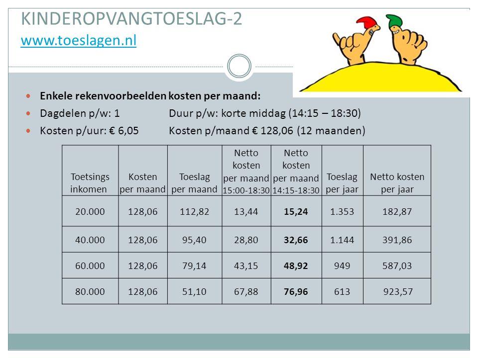 KINDEROPVANGTOESLAG-2 www.toeslagen.nl
