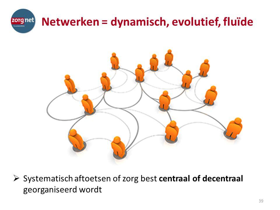 Netwerken = dynamisch, evolutief, fluïde
