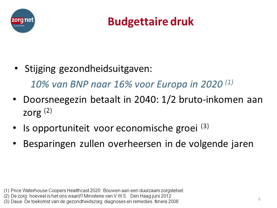Budgettaire druk Stijging gezondheidsuitgaven: