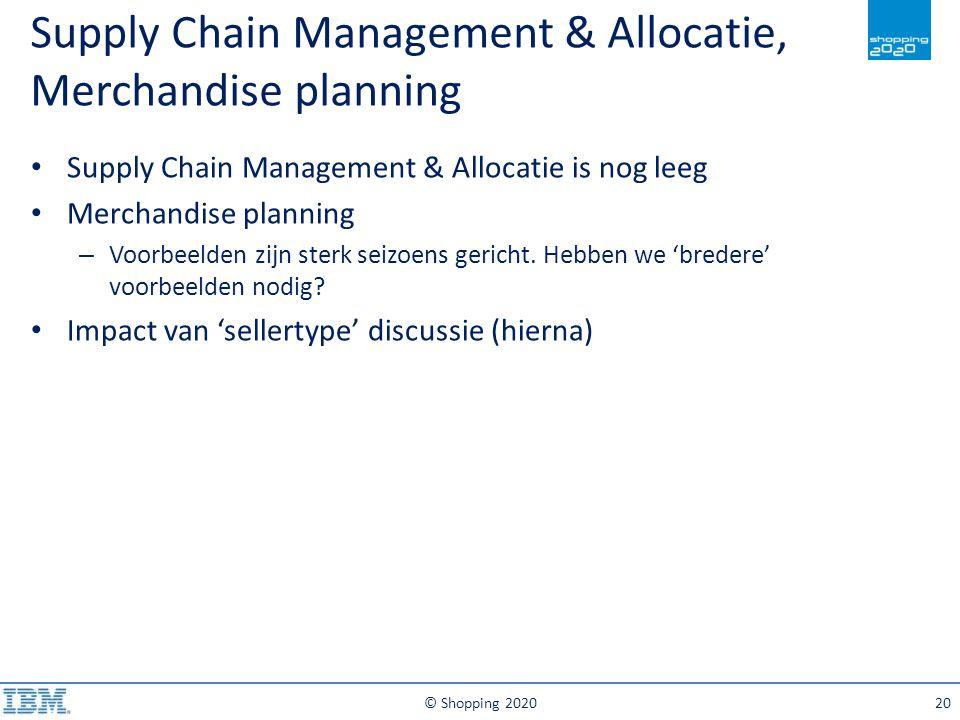 Supply Chain Management & Allocatie, Merchandise planning